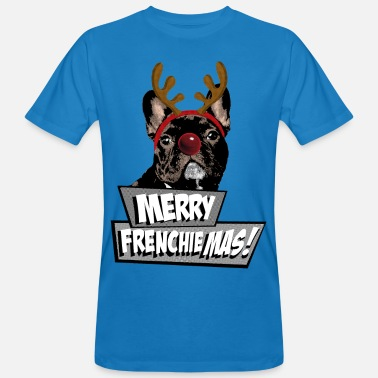 French Bulldog AD Merry FrenchieMas! - Men's Organic T-Shirt
