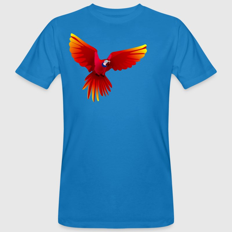 Ara fliegt rot - flying red Ara - Camiseta ecológica hombre