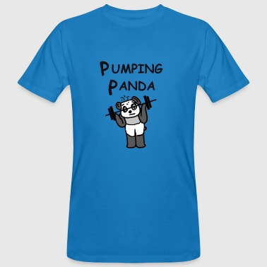 Pumping Panda - weights, gifts bodybuilder - Men's Organic T-Shirt