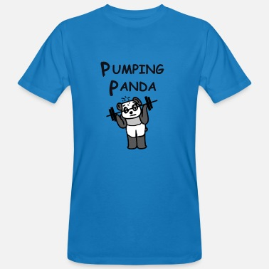 Weights Pump Pumping Panda - weights, gifts bodybuilder - Men's Organic T-Shirt