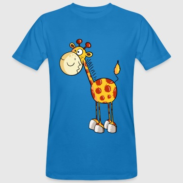 Funny Giraffe - Giraffes - Cartoon - Animal - Men's Organic T-shirt