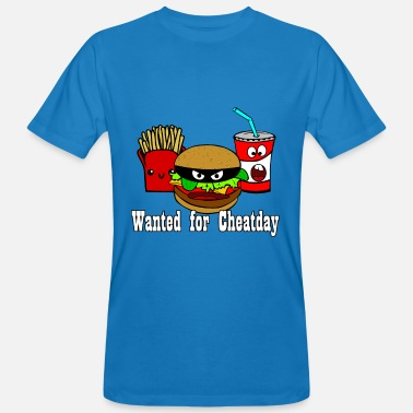 Vêtement Frites Cheatday: hamburgers, frites, boissons gazeuses - T-shirt bio Homme