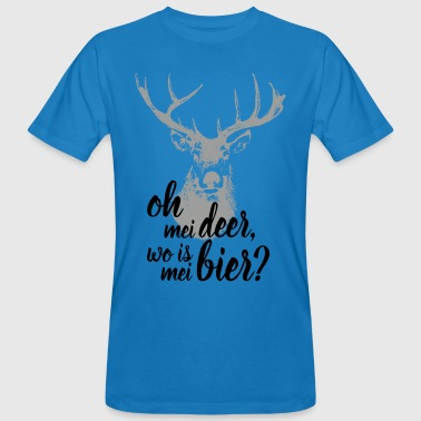 Oh my Deer, wo is mei Bier? - Männer Bio-T-Shirt