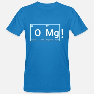 Omg OMG Funny Periodic Table - Mannen Bio-T-shirt