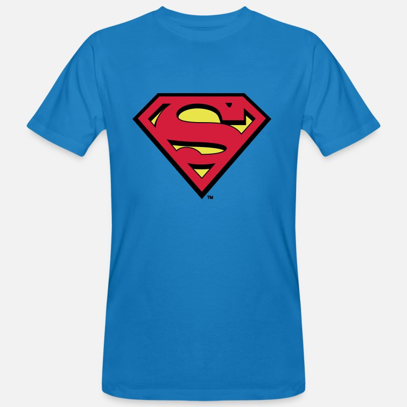 Superman T-shirts - DC Comics Superman Logo Classique - T-shirt bio Homme bleu paon