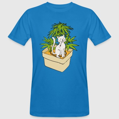 Herbe Chat et cannabis - T-shirt bio Homme