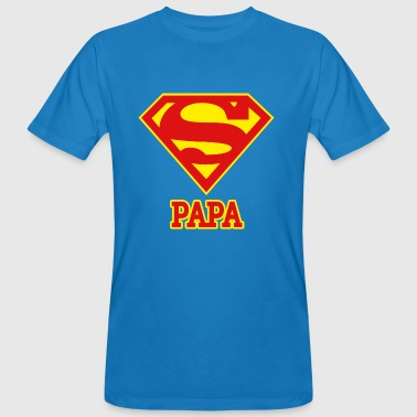 Superman 'Super PAPA' Men T-Shirt - Ekologisk T-shirt herr