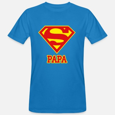 Superman 'Super PAPA' Men T-Shirt - Økologisk T-skjorte for menn