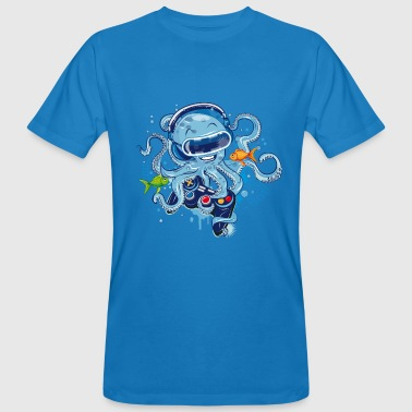 Octopus with gamepad and VR goggles - Men's Organic T-shirt