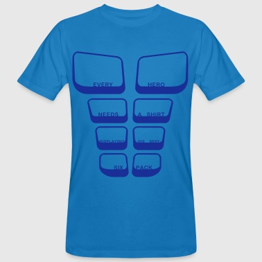 Six Pack every hero needs a sixpack text 3 Farb Vektor - Männer Bio-T-Shirt