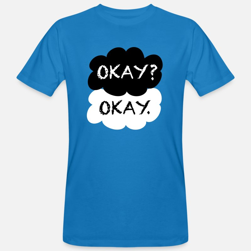 Book Movie Stars T-shirts - Okay? Okay. - T-shirt bio Homme bleu paon