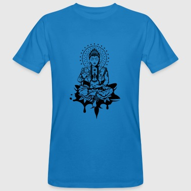 Buddha in the lotus position - Men's Organic T-shirt