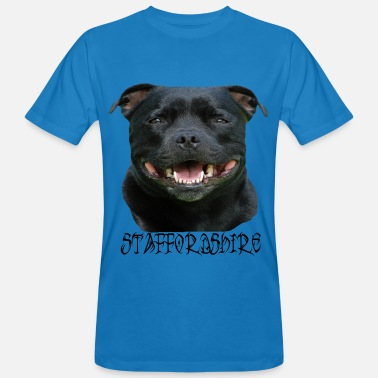 Stafford Staffordshire, Terrier, Stafford, dog head, Staffbull - Men's Organic T-Shirt