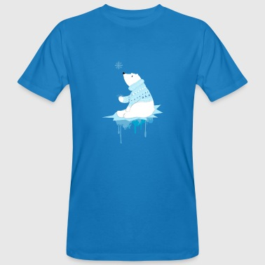 Polar bear with snowflakes - Mannen Bio-T-shirt