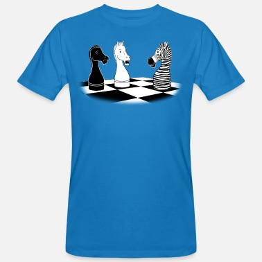 Checkmate Zebra Knight - Men's Organic T-Shirt