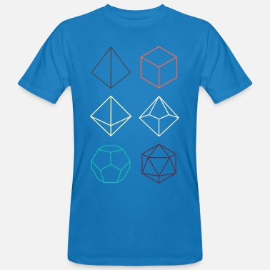 Dragons Minimal dnd (dungeons and dragons) dice - Men's Organic T-Shirt
