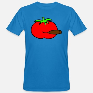Tomate tomate fumar - Camiseta orgánica hombre