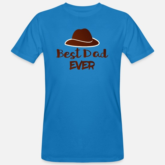 Daddy T-shirts - best dad 15 - T-shirt bio Homme bleu paon