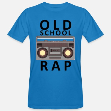 Old School Rap Old School Rap Kassettenradio Vintage - Männer Bio T-Shirt