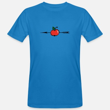 Apple arrow + - Men's Organic T-Shirt