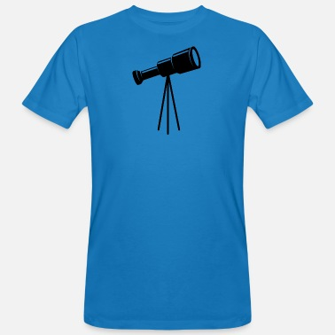 Galaxey Telescope on tripod - Men's Organic T-Shirt