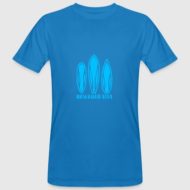 Hawaiian Blue 3 surfboards - Ekologisk T-shirt herr