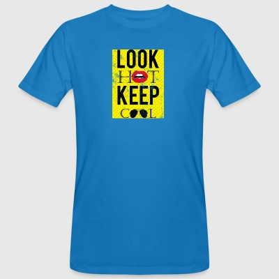 Pop Art / Graphic Novel: guardare a caldo, Keep Cool - Lips - T-shirt ecologica da uomo