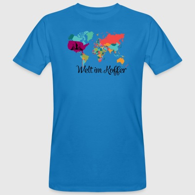 World in a suitcase Traveling Life Dreaming - Men's Organic T-shirt