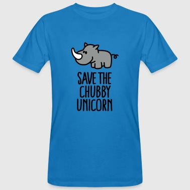 Save the chubby unicorn - Men's Organic T-shirt
