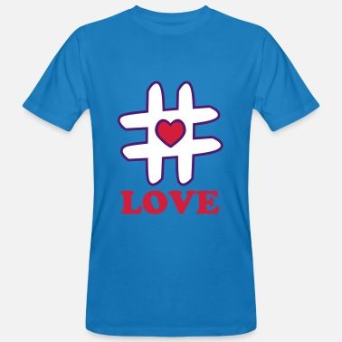 Hashtag Heart - Men's Organic T-Shirt