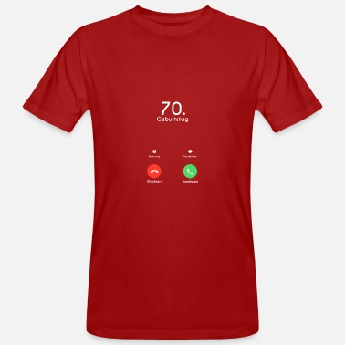 Call 70th Birthday Call Call - T-shirt ecologica da uomo