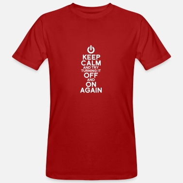 Keep Calm Keep calm - Mannen Bio-T-shirt