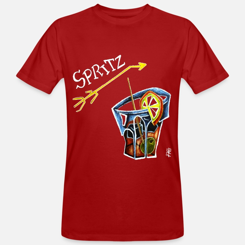Bitter T-Shirts - Spritz Aperol Party T-shirts Venice Italy - Energy Drink - Men's Organic T-Shirt dark red