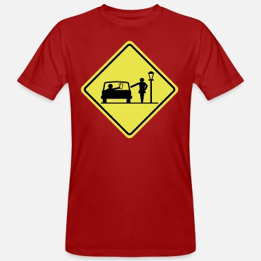 Red Light District road sign prostitution zone - Men's Organic T-Shirt