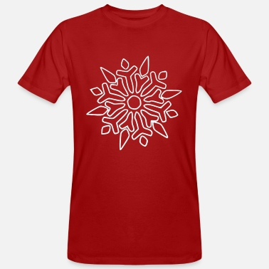 I Love Winter Snowflake Snow Crystal I LOVE WINTER - Økologisk T-skjorte for menn