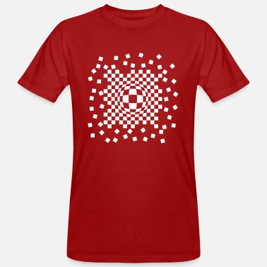 Checkerboard Checkerboard leak - Men's Organic T-Shirt