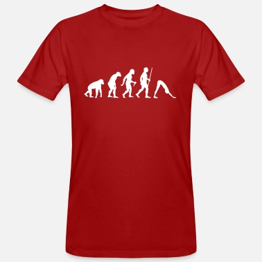 Funny Yoga Evolution Yoga - Men's Organic T-Shirt