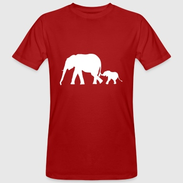 Elephants - elephant mother and child - Men's Organic T-Shirt