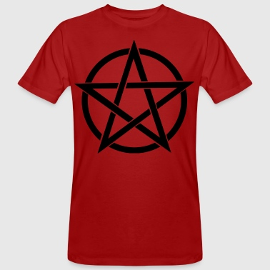 Black-Pentagram - Männer Bio-T-Shirt