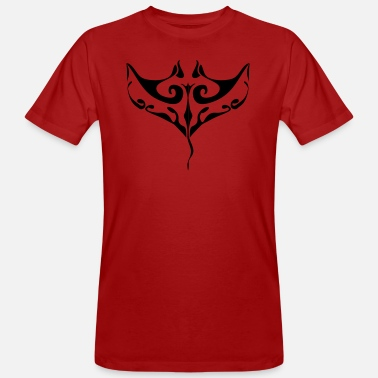 Maori Polynesian Manta ray tatoo - Men's Organic T-Shirt