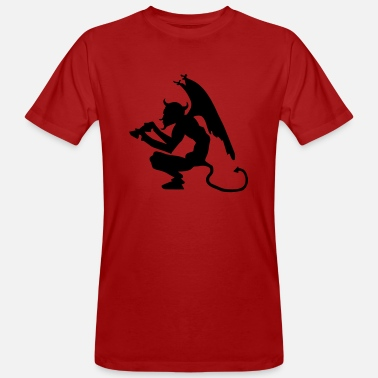 Devil Devil with Pitchfork - Men's Organic T-Shirt