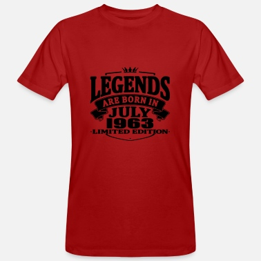 Born 1963 Legends are born in july 1963 - Men's Organic T-Shirt