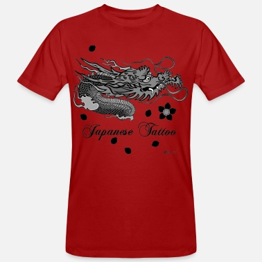 Fashion Japanese Tattoo Dragon - Men's Organic T-Shirt