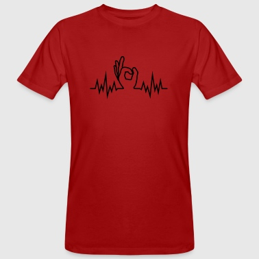 Wave-Finger-Hole - Männer Bio-T-Shirt