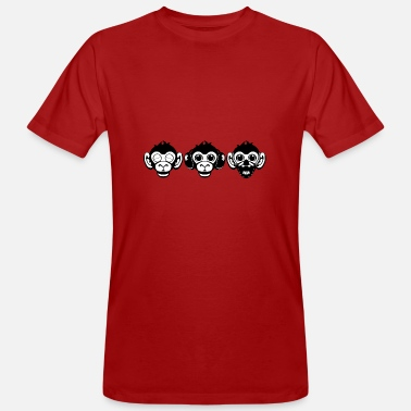 Monkeys Three Wise Monkeys - Men's Organic T-Shirt