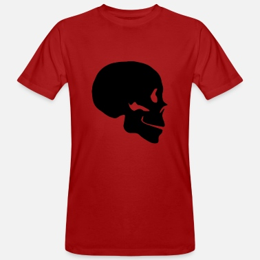 Profile Graphics Skull silhouette profile - Men's Organic T-Shirt