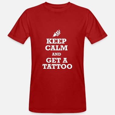 Tattoo Keep Calm Tattoo - Männer Bio-T-Shirt