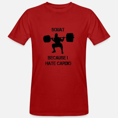 Weight Lifting Squat Bodybuilding Powerlifting Weight Lifting Gym - Ekologisk T-shirt herr