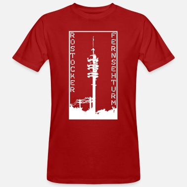 Television Tower Rostock, Rostock TV Tower, Hanseatic City of Rostock - Men's Organic T-Shirt