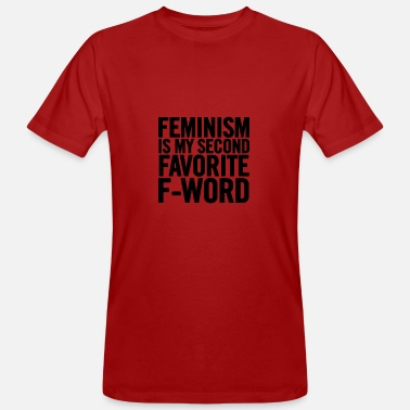 Feminism Is My Second Black - Camiseta orgánica hombre